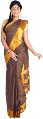 Nav Durga Solid, Applique, Embellished Fashion Art Silk Sari