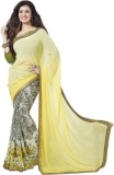 SHS Printed Bollywood Georgette Saree (Y...