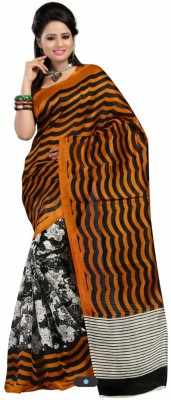 Styloce Printed Fashion Art Silk Sari