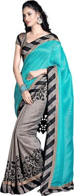 5Star Sarees Floral Print Fashion Silk Sari