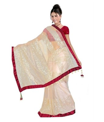 Krishna Emporia Self Design Bollywood Net Sari