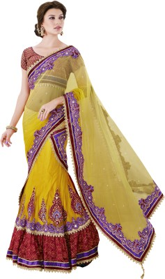 MAHOTSAV Self Design Fashion Net, Satin Saree(Multicolor) at flipkart