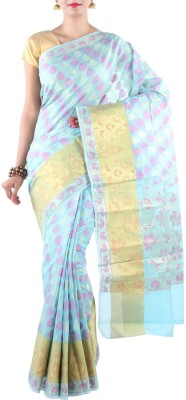 Banarasi Drapes Woven Chanderi Cotton Sari