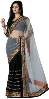 Kmozi Embriodered Fashion Net Sari