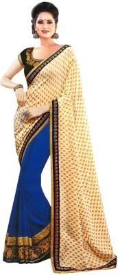 Fabfirki Fashion Hub Self Design Fashion Georgette Sari