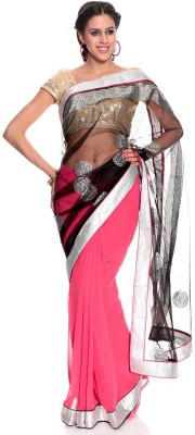AVR FASHIONS Embriodered Bollywood Georgette Sari