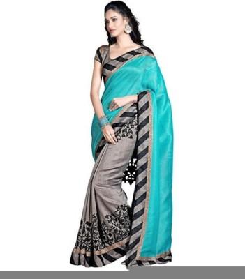 Increadibleindianwear Printed Bhagalpuri Handloom Banarasi Silk Sari