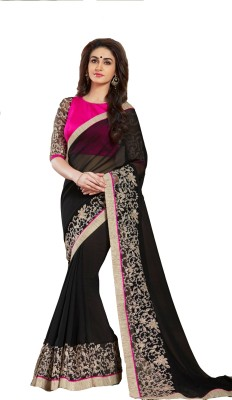 Krisha Fashion Embriodered Fashion Georgette Sari