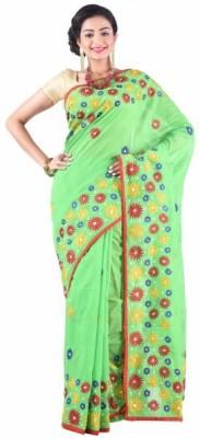 Shaj Boutique Embriodered Phulkari Chanderi Sari