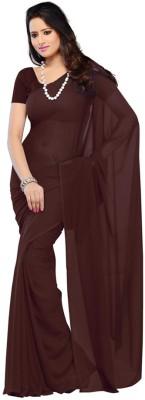 Murli Manohar Fashions Plain Bollywood Handloom Chiffon Sari