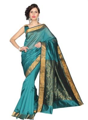 Vastrakala Solid, Striped Fashion Cotton, Silk Sari