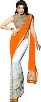 ds Solid Fashion Georgette Sari