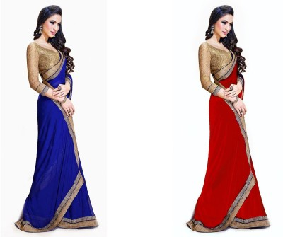 Krishna Creation Embriodered Bollywood Handloom Chiffon Sari