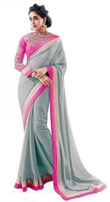Ustaad Embriodered Daily Wear Georgette Sari