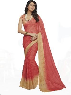 Rajhans Fashion Floral Print Fashion Chiffon Sari
