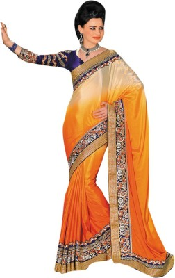 Diva Divine Embriodered Fashion Chiffon Sari