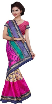 Cutie Fashion Self Design Bhagalpuri Silk Sari