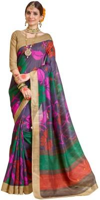 DESIGN WILLA Printed Bhagalpuri Silk Cotton Blend Sari