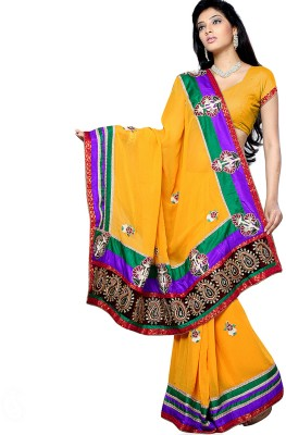 Aapno Rajasthan Printed Fashion Georgette Sari
