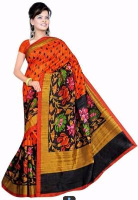 Jignesh Mangukiya Printed Bhagalpuri Handloom Silk Sari