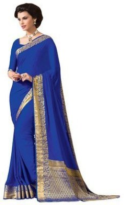 Radhika Creation Plain Fashion Crepe Sari