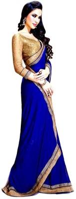 Murli Manohar Fashions Embriodered Bollywood Handloom Chiffon Sari