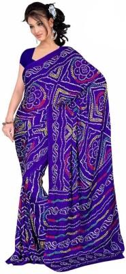 Sanjana2SwarupaFashion Printed Bandhani Silk Sari