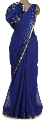 Parmar Design Plain Bollywood Georgette Sari