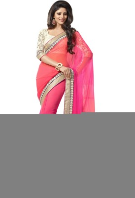 Saree India Embriodered Fashion Georgette Sari