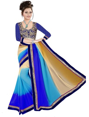 Shree Shyam Silk Embriodered Fashion Georgette Sari