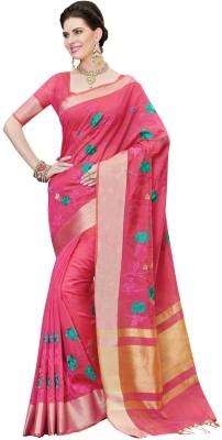 La,ethnic Embriodered Fashion Chanderi Sari