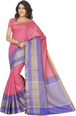 Rani Saahiba Woven Fashion Art Silk Sari(Pink)