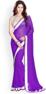 yanatextile Solid Fashion Georgette Sari