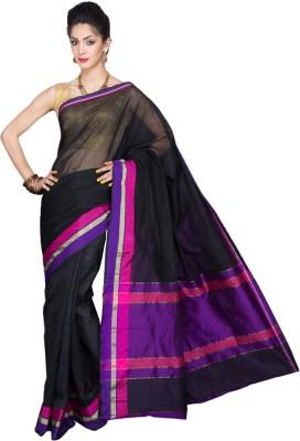 Pavechas Solid Banarasi Cotton Sari