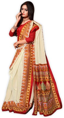 Glad2baWoman Floral Print Bhagalpuri Art Silk Sari