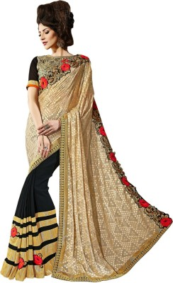 Bharti Prints Embriodered Fashion Georgette Sari