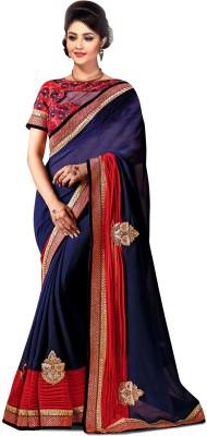 Crazyvilla Solid Daily Wear Georgette Sari
