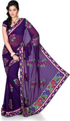 Designersareez Self Design Fashion Chiffon Sari