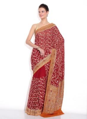 Zain Textiles Woven Banarasi Silk Sari