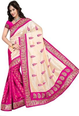 Laxmi Fashion Embriodered Bhagalpuri Brasso Sari