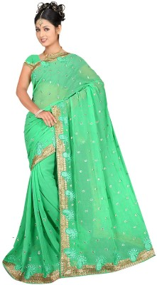 Fashiondodo Self Design Fashion Georgette Sari