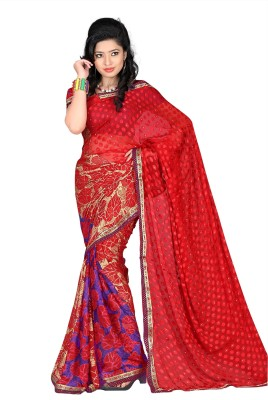 Murli Manohar Fashions Printed Bollywood Handloom Brasso Sari
