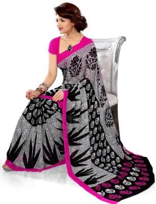 Mam's Printed Bandhej Art Silk Sari
