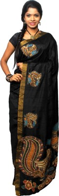 Avantika Applique Fashion Handloom Raw Silk Sari