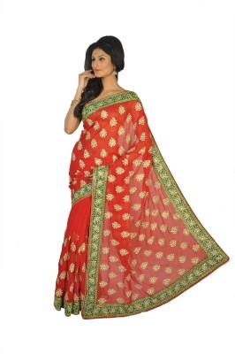 Vasundhara Lifestyle Self Design Fashion Chiffon Sari