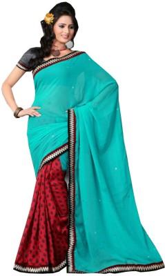 Shivam Textiles Self Design Chanderi Chiffon, Georgette Sari
