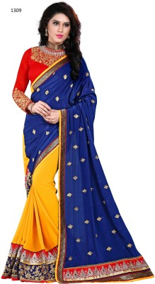 Naresh Sarees Embriodered Daily Wear Net Sari
