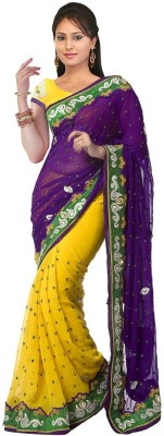 Thelibazz Embriodered Bollywood Chiffon Sari