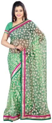 Klick Floral Print Fashion Brasso Sari