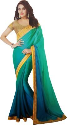 Shaarada Plain Fashion Pure Georgette Sari
